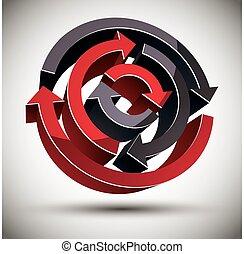 3d loop arrows.
