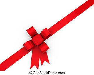 3d loop christmas red birthday gift ribbon