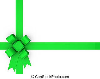 3d loop green gift ribbon christmas birthday