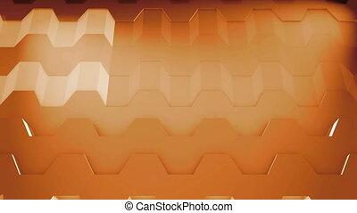 3D Loop Hexagonal Motion Graphic Background