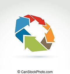 3d loop sign, geometric