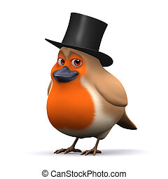 3d Lord robin red breast