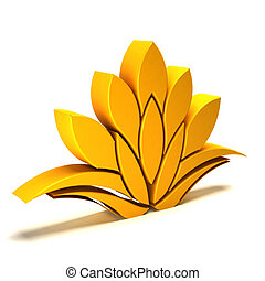 3D Lotus yellow logo