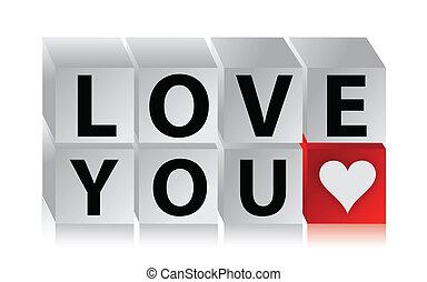 3D Love Button cube