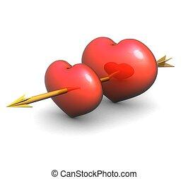 3d Love togetherness concept