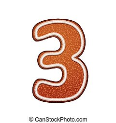 3d lovely gingerbread cookie number 3