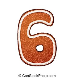 3d lovely gingerbread cookie number 6