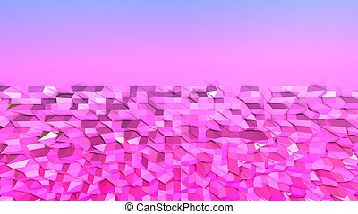 3d low poly abstract geometric background with modern gradient colors. 3d surface 3
