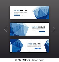 3d low poly solid abstract corporate banner. - 3d lowpoly...