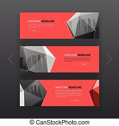 3d lowpoly solid abstract corporate banner design. - 3d...