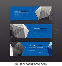 3d lowpoly solid abstract corporate banner or web slideshow...