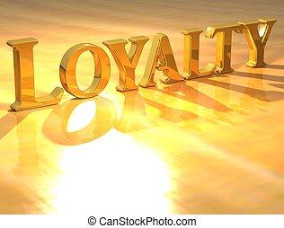 3d, loyality, złoty, tekst