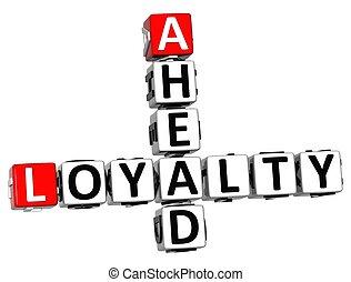 3D Loyalty Ahead Crossword
