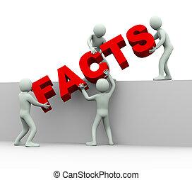 3d, ludzie, -, pojęcie, od, fakty