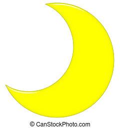 3d, luna medialuna