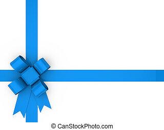 3d, lus, blauwe