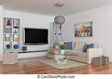 3d - luxury modern loft apartment