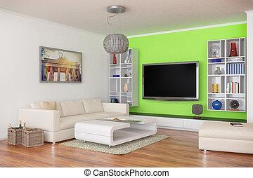 3d - luxury modern loft apartment - shot 44