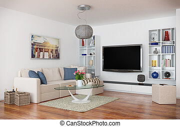 3d - luxury modern loft apartment - shot 43