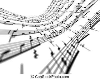3d, música nota