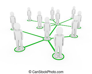 3d, maenner, grün, vernetzung, sozial