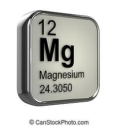 3d Magnesium element - 3d render of the magnesium element...