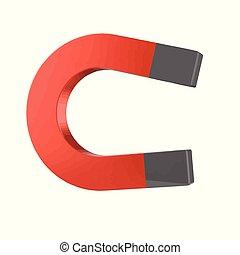 3d Magnet - 3d render of a magnet