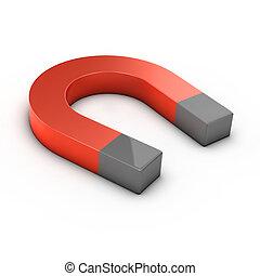 3d render of a magnet