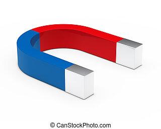 3d magnet red blue
