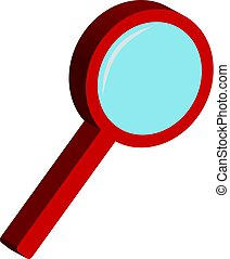 3D magnifier on white background