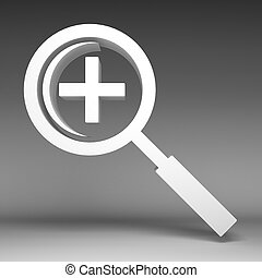 3d Magnifying glass icon