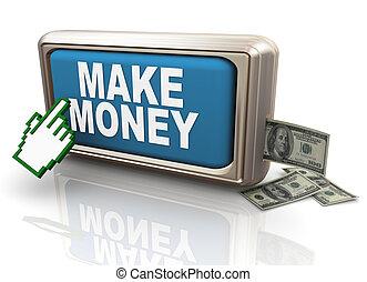 3d make money button