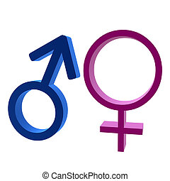 3D Male & Female Symbol