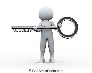 3d man and key to success