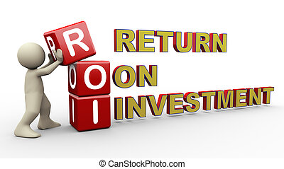3d man and roi cubes - 3d person placing roi - return on...