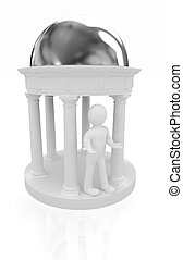 3d man and rotunda