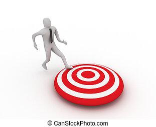3d man and target