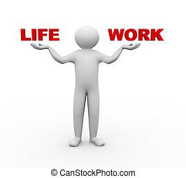 3d man balance life work