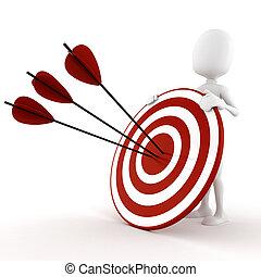 3d man behind a target