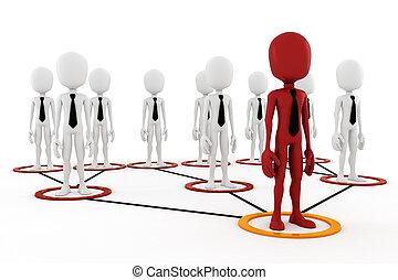 3d man business leader