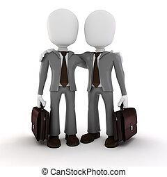 3d man businessman on white background
