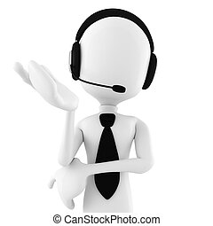3d man call center offering support