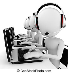 3d man call center