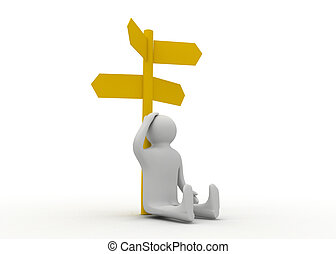 3d man choice direction
