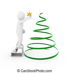 3d man christmas tree