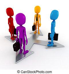 3d man colorful business men