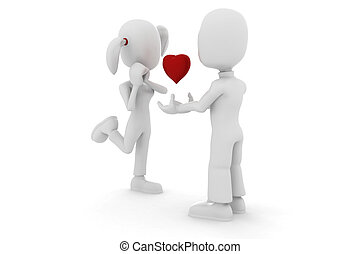 3d man - couple inlove