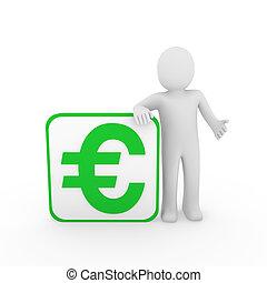 3d man euro green cube
