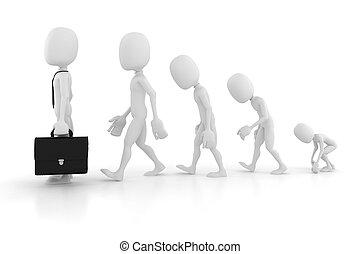 3d man evolution in business