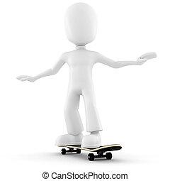 3d man, extreme skateboard
